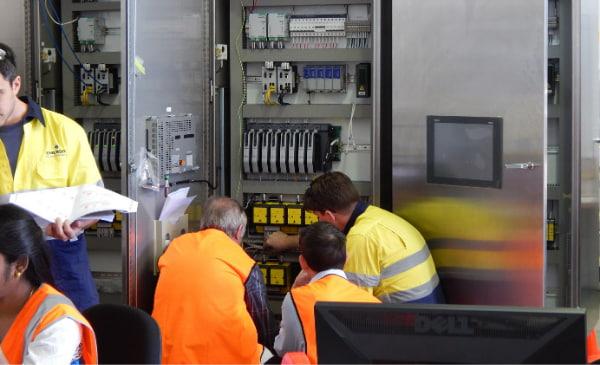 Maintenance team doing their job