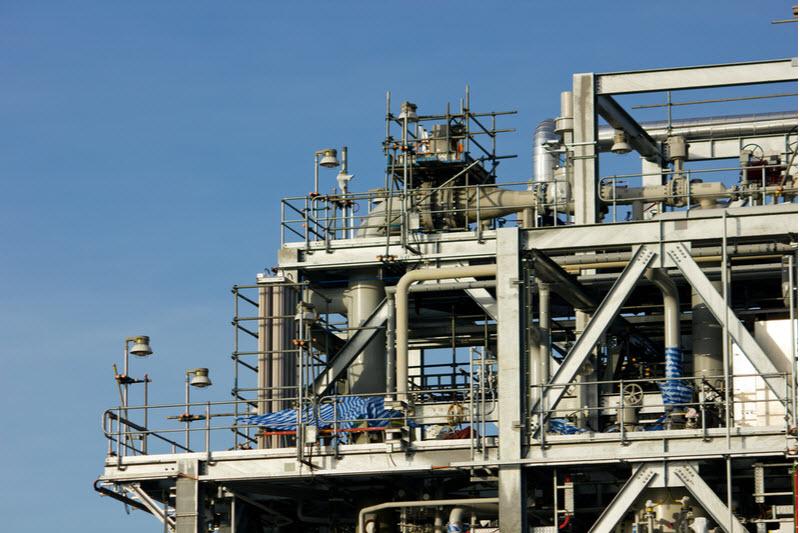 Coal seam gas factory